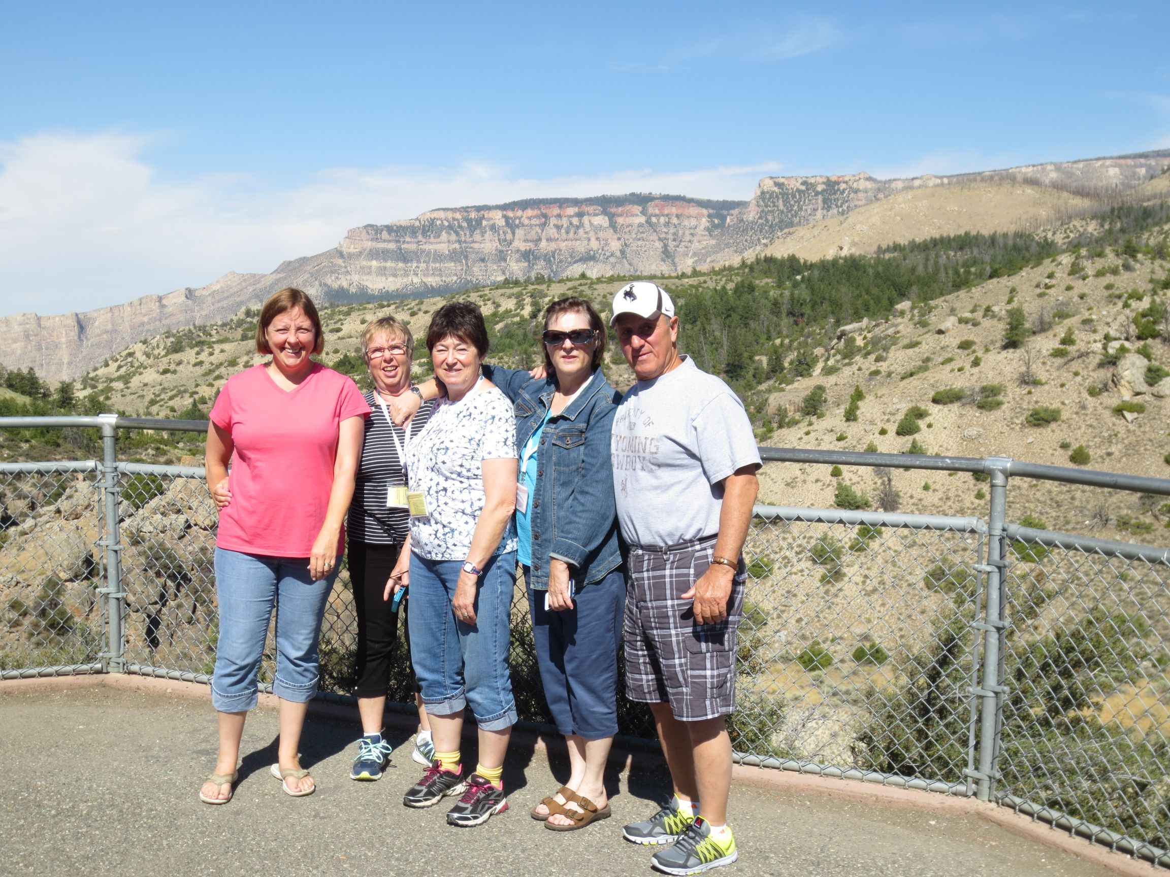Our travelers enjoy a scenic view while on our Western Parks tour August 2016