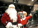 Santa stepped on board our coach as we arrived at Lights on the Lake in Syracuse  November 2015
