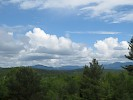 A view of some of the Adirondack High Peaks as seen from the Eagle Nest on Wild Walk at The Wild Center, Tupper Lake, NY