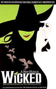 Poster for the Broadway sensation Wicked