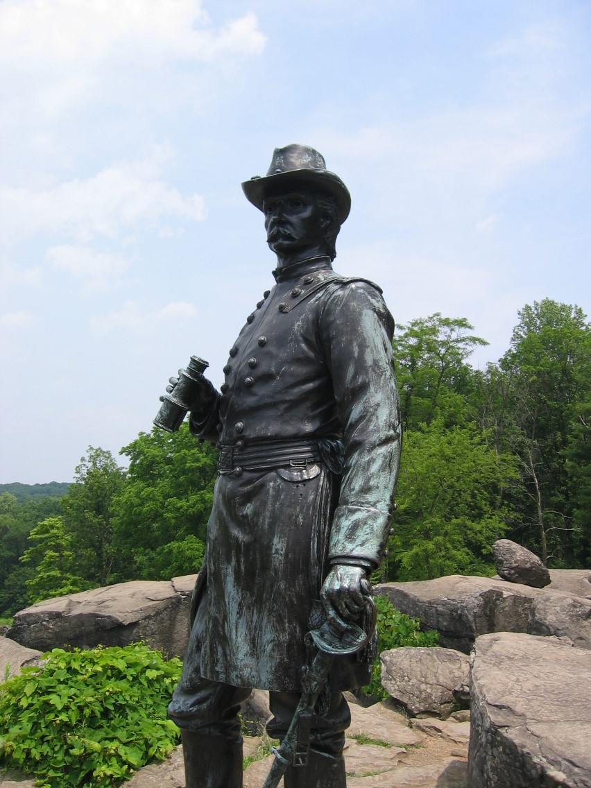 Picture of statue at Gettysburg Battlefield
