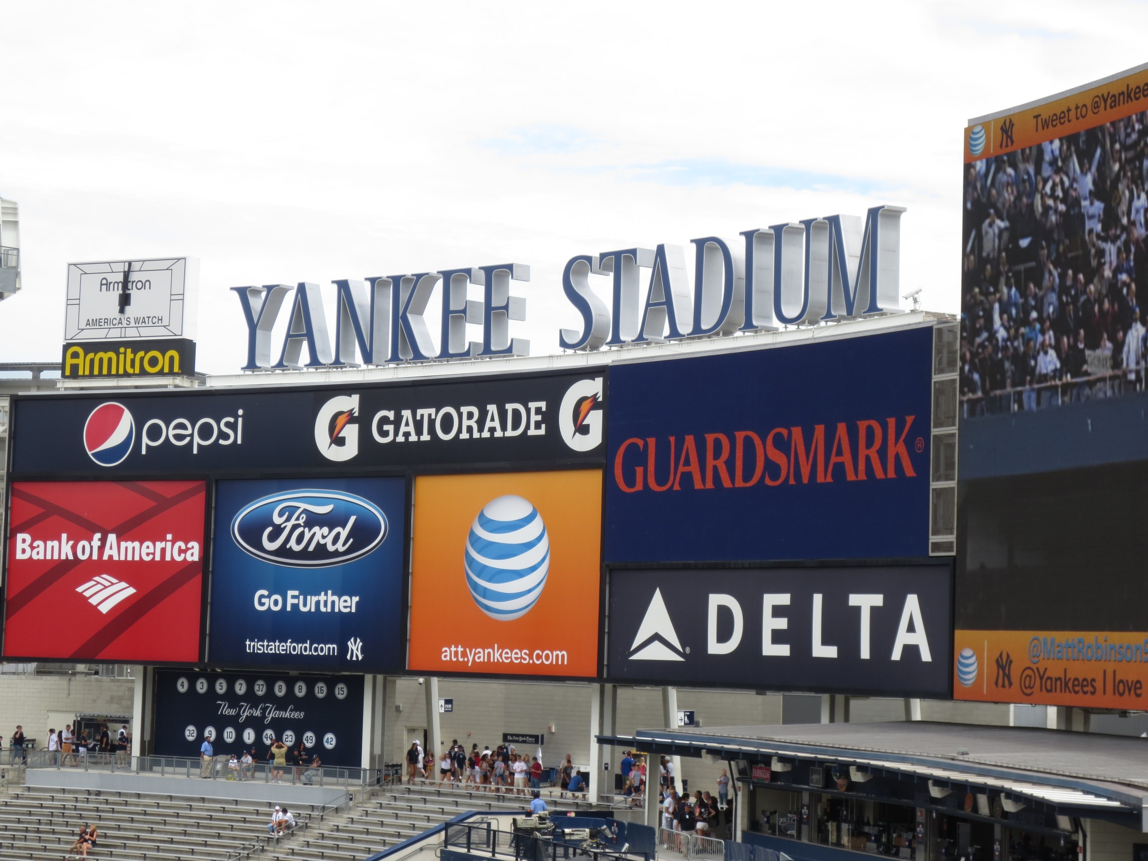 Photo of the sign board at Yankee Stadium