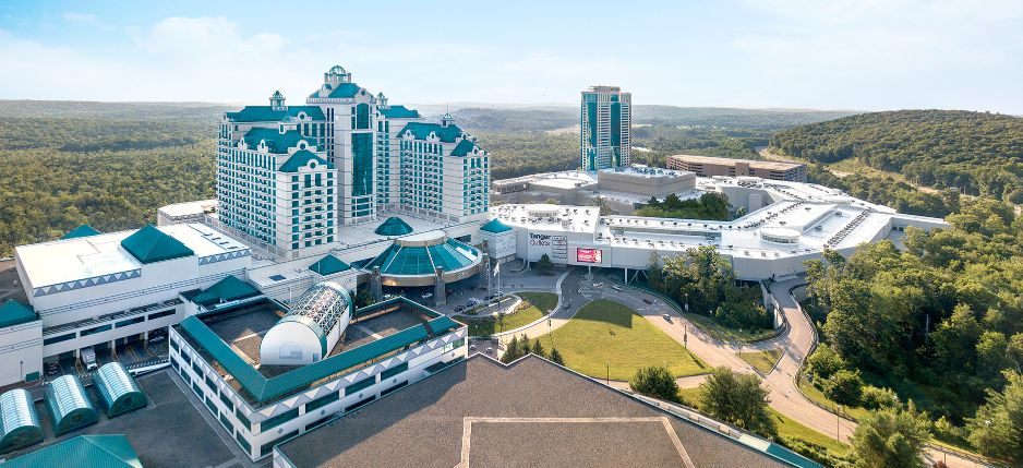 Panorama of Foxwoods Resort with Tanger Outlets